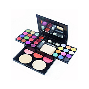 cheap Eyeshadows-33 Colors Eyeshadow Palette Concealer & Base Women Gift Lady Kits Lips Multi-functional Palette Multi-function Convenient Daily Makeup Party Makeup Fairy Makeup Cosmetic Gift