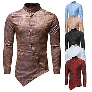 povoljno Stare svjetske nošnje-Liječnik plague Viktoriánus Steampunk Bluza / Shirt Muškarci Kostim Crn / Zlatan / Obala Vintage Cosplay Party Halloween