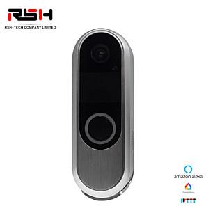 cheap Video Door Phone Systems-RSH 720P HD Wireless WIFI Doorbell Battery Door Camera Two Way Audio Intercom IP Door Bell Home Security APP Control