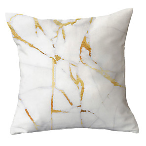 cheap Pillow Covers-1 pcs Polyester Pillow Cover Simple Modern Gold Marble Texture Light Color Pillow Cover Sofa Pillow Throw Pillow Light Luxury Style Pillow Cover