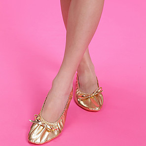 cheap Dancing Costumes-Women's Girls' Dancer Belly Dance Shoes Oriental Cloth Rubber Golden Shoes / Kid's