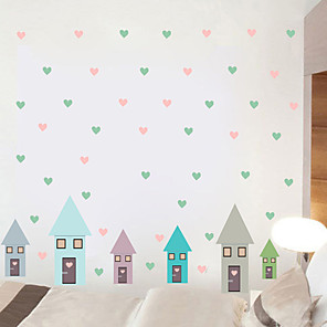 cheap Wall Stickers-Decorative Wall Stickers - Plane Wall Stickers Houses / Hearts Nursery / Kids Room