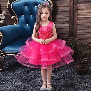 cheap Movie & TV Theme Costumes-Princess Dress Girls' Movie Cosplay Cosplay Halloween Purple / Pink / Fuchsia Dress Halloween Carnival Masquerade Tulle Polyester