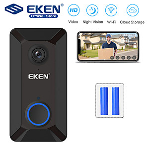 cheap Video Door Phone Systems-EKEN V6 Smart WiFi Video Doorbell with 2*18650 Battery