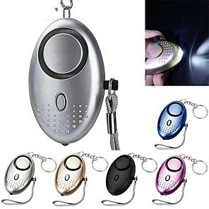 cheap GPS Tracking Devices-130db Personal Safety Alarm Police Approved Keychain Security Panic Rape Attack Torch