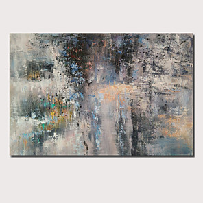 cheap Framed Arts-Oil Painting Hand Painted - Abstract Landscape Comtemporary Modern Stretched Canvas