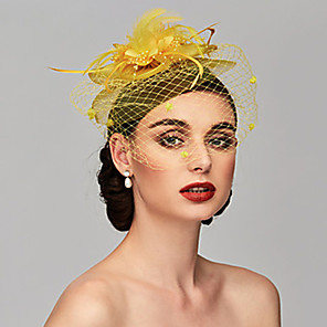 cheap Historical & Vintage Costumes-Queen Elizabeth Audrey Hepburn Retro Vintage Kentucky Derby Hat Fascinator Hat Women's Costume Hat Black / White / Purple Vintage Cosplay Party Party Evening