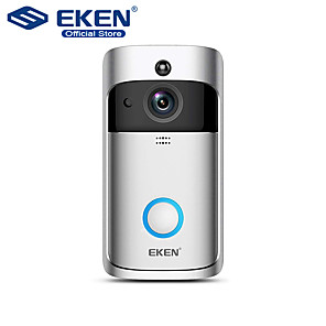 cheap Video Door Phone Systems-EKEN V5 Smart WiFi Video Doorbell Camera Visual Intercom With Chime Night vision IP Door Bell Wireless Home Security Camera