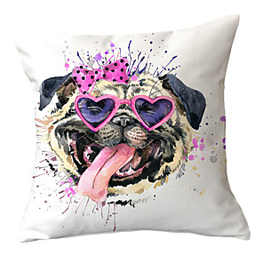 cheap Sale-1 pcs Polyester Pillow Cover Puppy Dog Pillow Cover Sofa Car Cushion Cover Animal Home Plush Pillow Child Cartoon