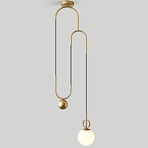cheap Pendant Lights-QINGMING® 2-Light 15 cm Mini Style Pendant Light Metal Glass Mini Painted Finishes Artistic / Nordic Style 110-120V / 220-240V