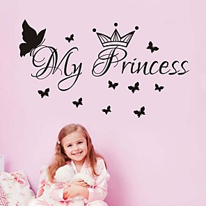 cheap Wall Stickers-Decorative Wall Stickers - Plane Wall Stickers Characters / Princess Nursery / Kids Room