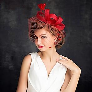 cheap Historical & Vintage Costumes-Queen Elizabeth Audrey Hepburn Retro Vintage Kentucky Derby Hat Fascinator Hat Women's Costume Hat Black / Red / Beige Vintage Cosplay Party Party Evening