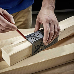 cheap Testers & Detectors-3D Angle Measuring Square Size Woodworking Measure Tool Line 90 Degree Gauge T-type Ruler Hole Scribing Gauge
