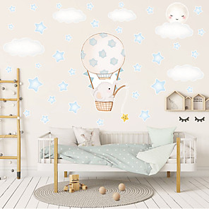 cheap Wall Stickers-Decorative Wall Stickers - Plane Wall Stickers Animals / Stars Nursery / Kids Room