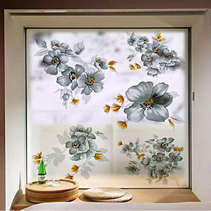 cheap Wall Stickers-Dicor Art Stained Glass Stickers For Windows Decorative Film Frosted Opaque Privacy Window Film For Living Room Bathroom -in Decorative Films from Home & Garden on AliExpress