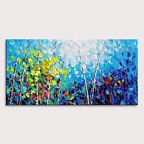 cheap Oil Paintings-Oil Painting Hand Painted - Abstract Landscape Pop Art Modern Stretched Canvas