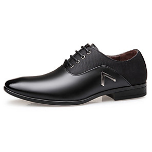 cheap Men's Oxfords-Men's Formal Shoes Faux Leather Spring & Summer / Fall & Winter Business / Casual Oxfords Breathable Black / Brown / Yellow
