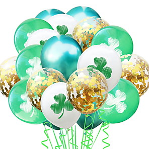 cheap Christmas Decorations-St Patrick's Day Pride Lucky Clover Balloon Irish Pub Decoration 1pc