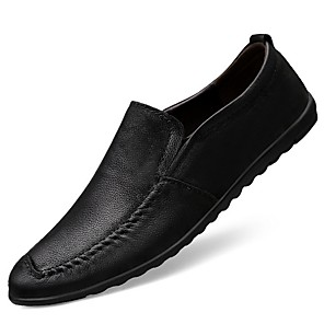 cheap Men's Slip-ons & Loafers-Men's Comfort Shoes PU Fall & Winter Loafers & Slip-Ons Black / Brown