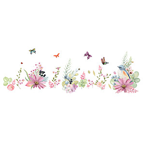 cheap Wall Stickers-Romantic Flowers Decorative Wall Stickers - Plane Wall Stickers Floral / Botanical Bedroom / Study Room / Office / Indoor