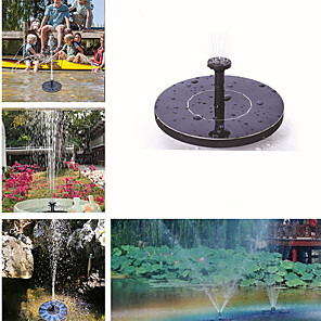 cheap Disinfection & Sterilizer-Mini Solar Fountain Solar Water Fountain Garden Pool Pond Outdoor Solar Panel Garden Decoration