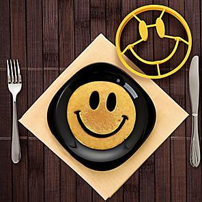 cheap Kitchen Utensils & Gadgets-Omelette Mold Silicone Smile Face Egg Mold DIY Breakfast Egg Mould Skull Pancake Ring for Kids Egg Tools