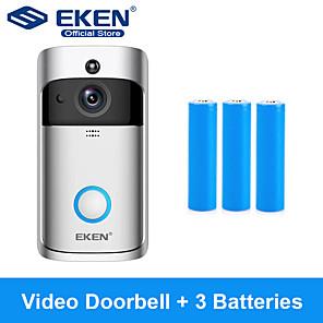 cheap Video Door Phone Systems-EKEN V5 Smart WiFi Video Doorbell With 3*18650 Battery