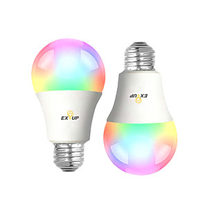 cheap LED Smart Bulbs-EXUP® 2pcs 9 W LED Smart Bulbs 900 lm B22 E26 / E27 A60(A19) 31 LED Beads SMD 2835 APP Control Smart Timing RGB&CW 100-240 V