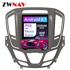 cheap Car DVD Players-ZWNAV 10.4 inch 1Din Android 8.1 Tesla style 4GB 64GB Car GPS Navigation Car radio tape recorder In-Dash Car DVD Player multimedia player For Buick Regal 2014-2018