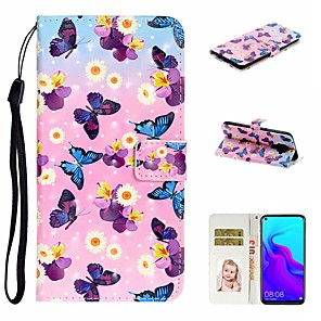 cheap Synthetic Trendy Wigs-Case For Huawei Honor 10 Lite /Honor 7A / Mate 10 lite Wallet / Card Holder / with Stand Full Body Cases Butterf PU Leather For Huawei Mate 20 lite/Y6 2018/Mate 30 lite/Mate 30 Pro/Mate 30/Mate 20 Pro