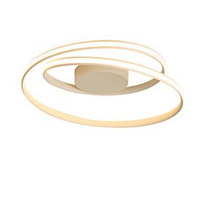 cheap Flush Mounts & Semi Flush Mounts-1-Light 46cm Nordic Style LED Ceiling Light Rotating ring Shape Modern Living Room Dining Room Bedroom Ceiling Lamp