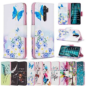 cheap Xiaomi Case-Case For Xiaomi Redmi Note 8 Pro / Redmi Note 8 / Redmi Note 7 Pro Wallet / Card Holder / with Stand Full Body Cases Feathers PU Leather / TPU for Redmi Note 7 / Redmi 8 / Redmi 8A / Redmi K20