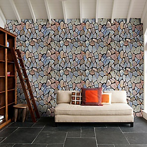 cheap Wall Stickers-Rocks Self Adhesive Wallpaper 3D Waterproof Home Decor Wallpapers for Living Room Decorative Wall Stickers 45CM*100CM