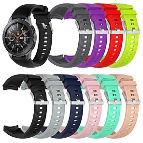 cheap Smartwatch Bands-Watch Band for Samsung Galaxy Watch 46mm / Samsung Galaxy Watch 42mm / Samsung Galaxy Watch Active Samsung Galaxy Modern Buckle Silicone Wrist Strap