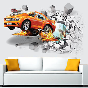 cheap Wall Stickers-3D Soccer Sports Boys Bedroom Art Vinyl Wall Sticker Personalized Car For Kids Rooms Nursery Decor