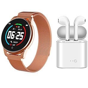 cheap Smartwatches-Indear watch 4  Women Smart Bracelet Smartwatch BT Fitness Equipment Monitor Waterproof with TWS Bluetooth Wireless Headphones Music Headphones for Android Samsung/Huawei/Xiaomi iOS Mobile Phone