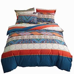 cheap Geometric Duvet Covers-Duvet Cover Sets 4 Piece Cotton Geometric Dark Yellow Applique Contemporary