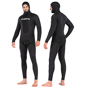cheap Wetsuits, Diving Suits & Rash Guard Shirts-DIVESTAR Men's Full Wetsuit 3mm SCR Neoprene Diving Suit Thermal / Warm Quick Dry Stretchy Long Sleeve 2-Piece - Diving Water Sports Solid Colored Autumn / Fall Spring Summer / High Elasticity