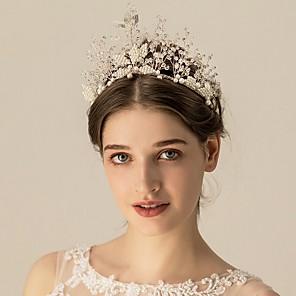 cheap Jewelry Sets-Alloy Headpiece with Rhinestone 1 Piece Wedding Headpiece
