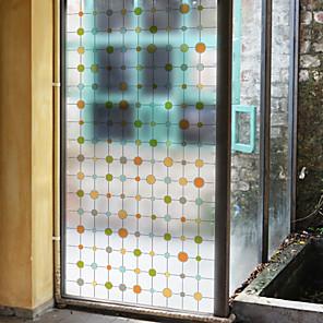 cheap Wall Stickers-Color Dot Window Film & Stickers Decoration Matte / Geometric Polka Dot / Geometric PVC(PolyVinyl Chloride) Window Sticker / Matte / Door Sticker
