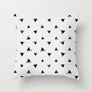 cheap Pillow Covers-1 pcs Polyester Pillow Cover Pink Nordic Simple Black and White INS Geometry Pillow Case Cushion Modern Model Room Living Room Sofa Cushion
