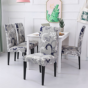 cheap Chair Cover-Chair Cover Floral / Romantic Printed Polyester Slipcovers