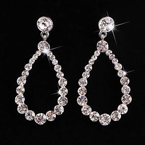 cheap Earrings-Women's Crystal Hoop Earrings Classic Love Classic Vintage Imitation Diamond Earrings Jewelry White For Wedding Party 1 Pair