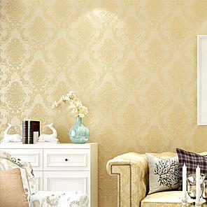 cheap Wall Stickers-Flower Pattern PVC Self-adhesive Wallpaper Floral / Botanical / Art Deco / Decorative Wall Sticker
