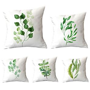cheap Pillow Covers-5 pcs Throw Pillow Simple Classic 45*45 cm  Car Waist Pillow Sofa cushion cover flannelette printing creative Home Office cushion