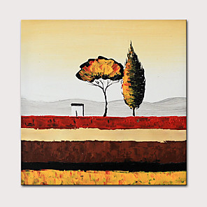cheap Abstract Paintings-Oil Painting Hand Painted - Abstract Abstract Landscape Modern Stretched Canvas