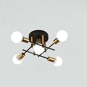 cheap Ceiling Lights-5-Light Nordic Modern Minimalist Living Room Bedroom Dining Room Office Apartment Study Hotel Model Room Decorative Ceiling Lighting