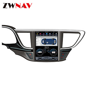 cheap Car DVD Players-ZWNAV Android 8.1 10.4 inch Tesla style 1Din 4GB 32GB Car radio tape recorder head unit Car GPS Navigation In-Dash Car DVD Player multimedia player For Buick Hideo 2015-2018
