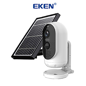 cheap Video Door Phone Systems-EKEN Safety-Monitor Astro Solar energy 1080P Wifi Battery Camera IP65 weatherproof Motion Detection IR Night Vision Wireless IP Camera