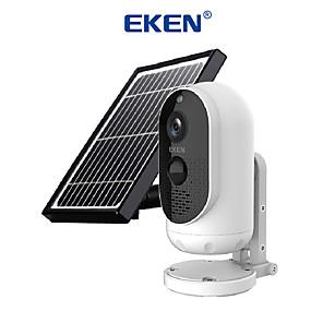 cheap Outdoor IP Network Cameras-EKEN Safety-Monitor Astro Solar energy 1080P Wifi Battery Camera IP65 weatherproof Motion Detection IR Night Vision Wireless IP Camera